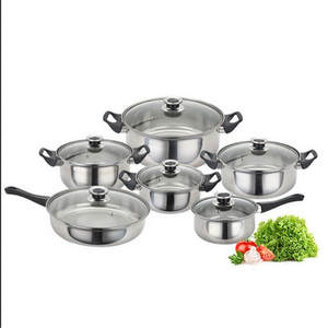 Casserole-Pan Pans Pan-Sets Saucepan Cooking-Pot Induction Stainless-Steel Kitchen