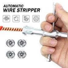 Eletricista geral automático fio descascador torção fio ferramenta de fio torção rápida linha de descascador de cabo