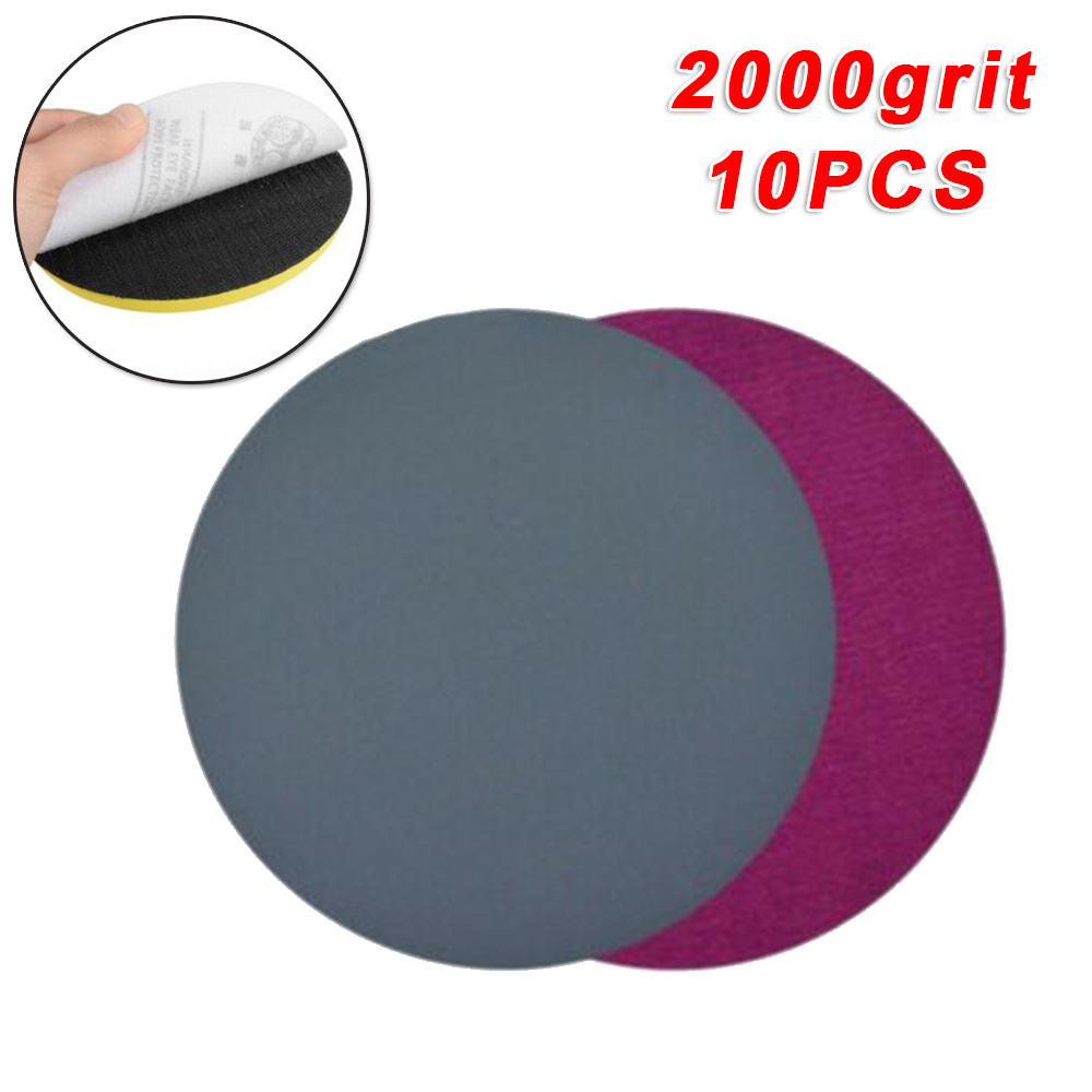 10pcs/set Sanding Paper Discs 5inch 2000Grits Round Backing Polishing Pads 125mm Grinder Wheel Parts Abrasive Tools