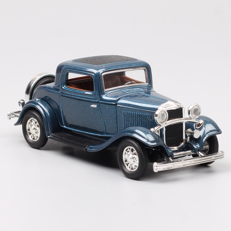 1:43 Scale Road Signature Classic Antique 1932 Ford Model B Three Window Coupe Wagon Vehicle Diecast Model Car Toy For Children