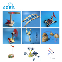 цена на Sz Steam 9pcs Kids Diy Science Toys Experiments Reptile Robot Assemble Physics Models Kit Educational Toys Gift For Children