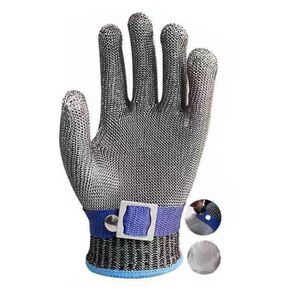Safety Cut Proof Stab Resistant Stainless Steel Metal Mesh Butcher Glove Level 5 Protection