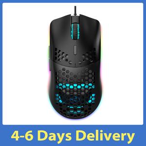 Image 1 - HXSJ J900 USB Wired Gaming Mouse RGB Gamer Mouses with Six Adjustable DPI Honeycomb Hollow Ergonomic Design for Desktop Laptop