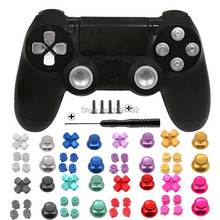 PS4 Thumb Grip Metalen Duim Grips Aluminium Vervanging Abxy Bullet Knoppen Duimknoppen Chrome D Pad Voor Sony Playstation 4