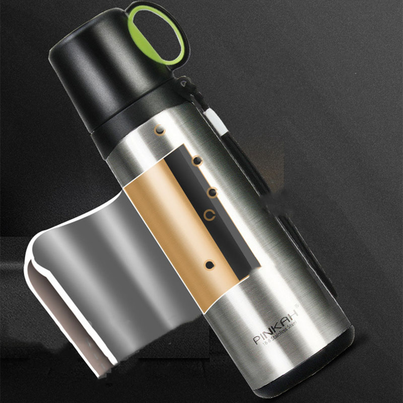 420ml 520ml Thermos Bottle Stainless Steel Vacuum Flasks Coffee Thermo Mugs Outdoor Travel Tea Insulated Bottles Milk Thermo Cup