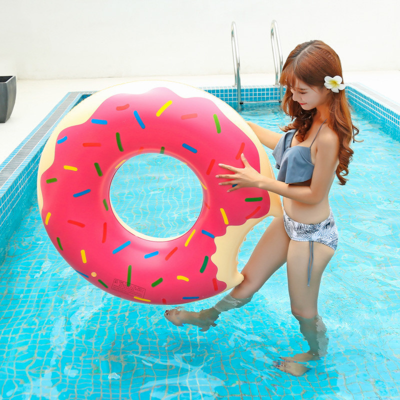 Inflatable Donut Swimming Ring Giant Pool Float Summer Outdoor Activitives Beach Party Swimming Pool Inflatable Mattress Water