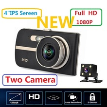 цена на New Design 4.0 Inch Screen 1080P 170 Degree Wide Angle Dual Lens HD Driving Recorder Car DVR for Cars Night Vision Dash Cam
