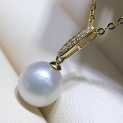 Bien, accesorios de la joyería de oro amarillo de 18K pizca fianza cierre colgante conector colgante collar de perlas No perla sin cadena