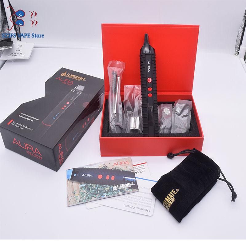Pathfinder V2 Conquer Dry Herb Vaporizer Kit Smoke Herbal Electronic Cigarette Vaporizer Portable Vape Pen With Big Led Display