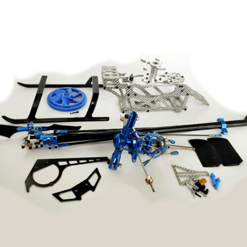 450 6CH 3D Fiberglass Frame Metal Rotor Head Tail Rotor RC Helicopter Kit