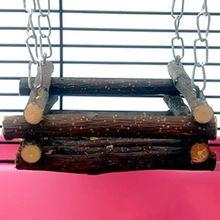 Hamster Wooden Bed Swing Rabbit Hanging Hammock Pet Climbing Bridge Ladder Toys
