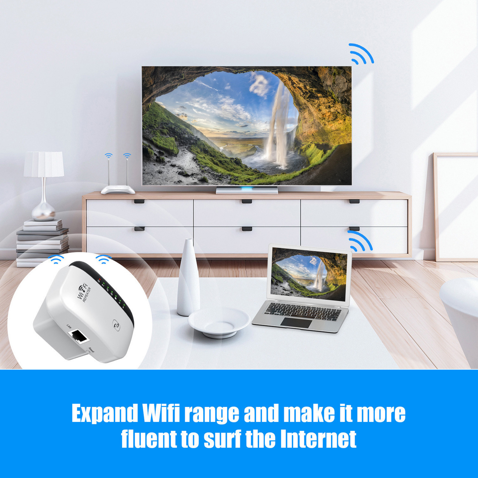 Wireless Wifi Repeater Wi-Fi Range Extender Router Wi Fi Signal Amplifier 300Mbps WiFi Booster 2.4G Wi Fi Reapeter Access Point 4