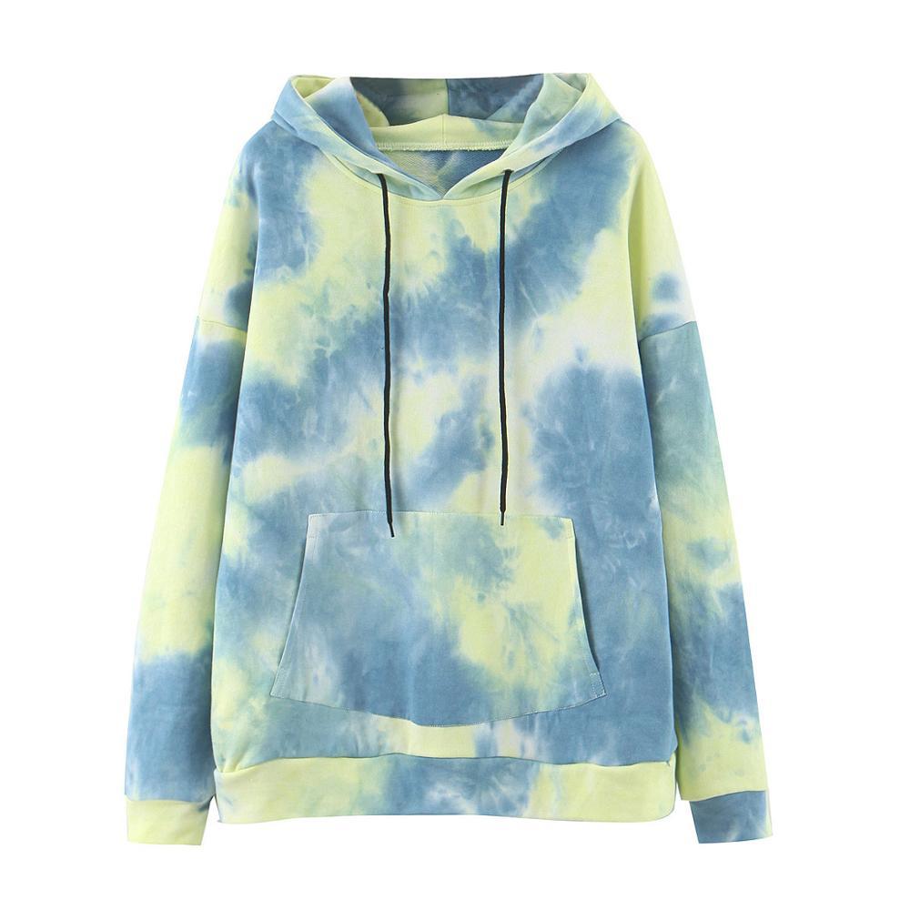 Wixra Womens Tie-dye Sweatshirts Femme New Fashion Hot Hoodies Pocket Long Sleeve Autumn Winter Casual Streetwear Tops 13