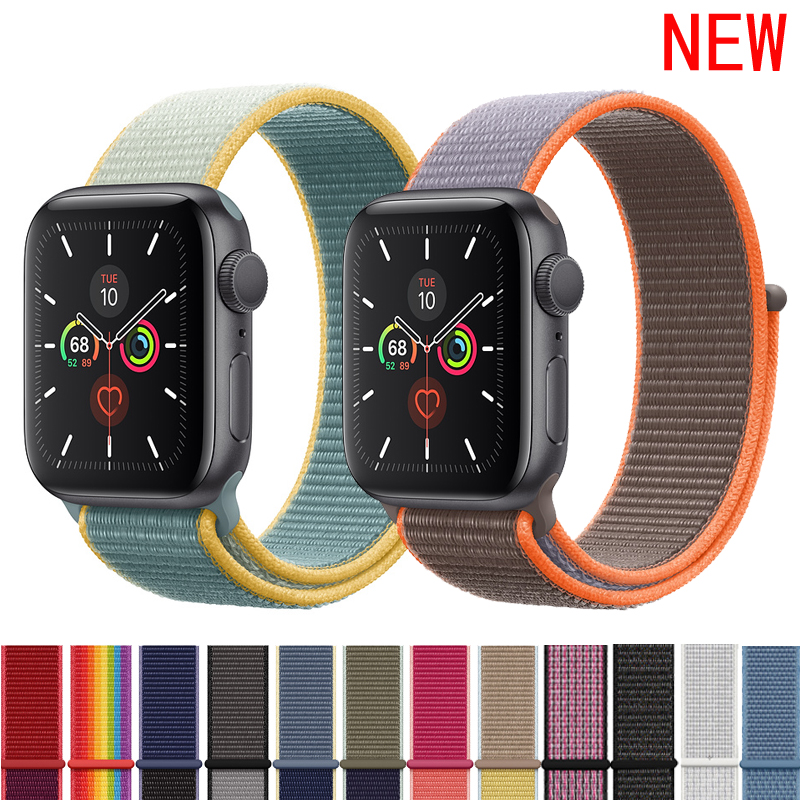 Sport Loop Strap For Apple watch band 4 5 3 44mm 40mm correa 42mm 38mm iwatch band bracelet breathable apple watch Accessories