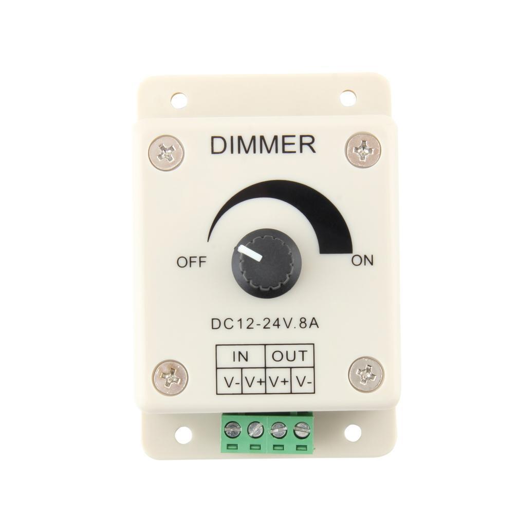 2pcs DC 12V 8A LED Light Protect Strip Dimmer Adjustable Brightness Controller E