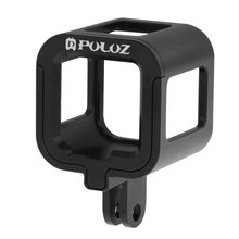 PULUZ Housing Shell for GoPro Hero6 Aluminum Alloy Protective Cage+Insurance Frame Handle for Go Pro HERO5