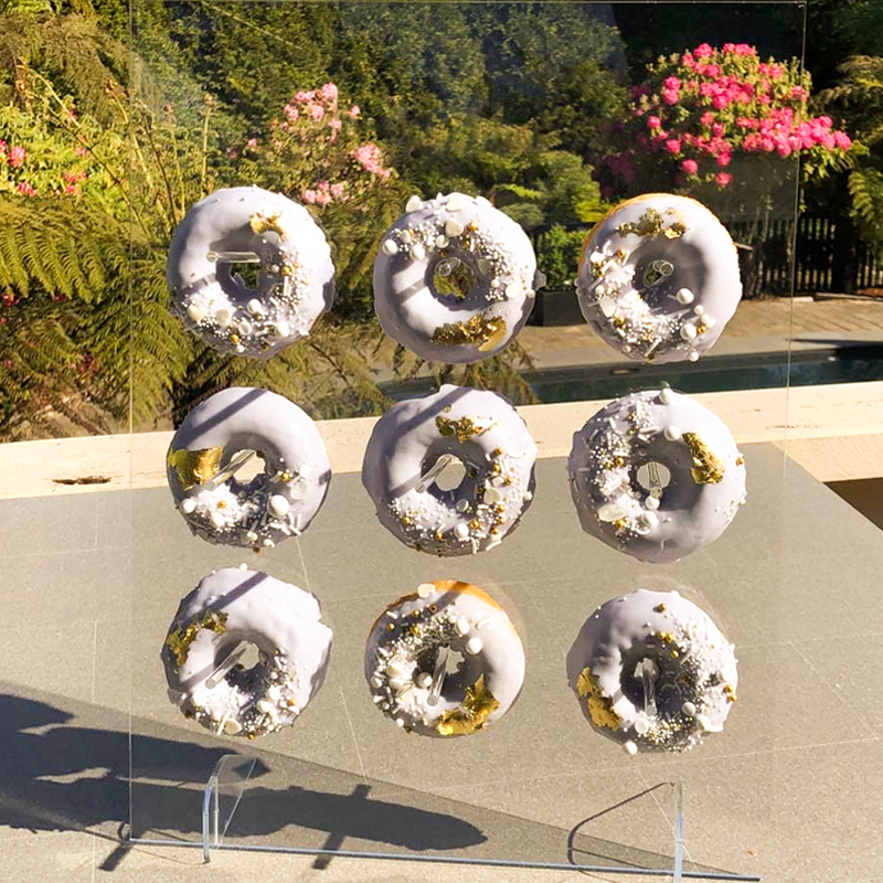 Acrylic/Wooden Donuts wall & stand Wedding/Party table accessories Garden outdoor party Babyshower kids birthday decorations Party DIY Decorations    - AliExpress