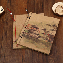 1PCS Chinese Style Notebook Tassel Memo Pad Note book handmade Vintage Kraft Paper Diary Book Office School Supplies Gift цена