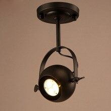 Винтажный потолочный светильник, ретро Точечный светильник для дома, лофт, бар, галерея, светильник ing(без лампочек