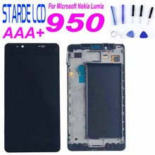 STARDE Replacement LCD For Nokia Lumia 950 LCD Display Touch Screen Digitizer Assembly with Frame and Free Tools 10pcs lots tetsed for nokia lumia 640 lcd screen diaplay touch screen digitizer assembly with frame black colors free shipping