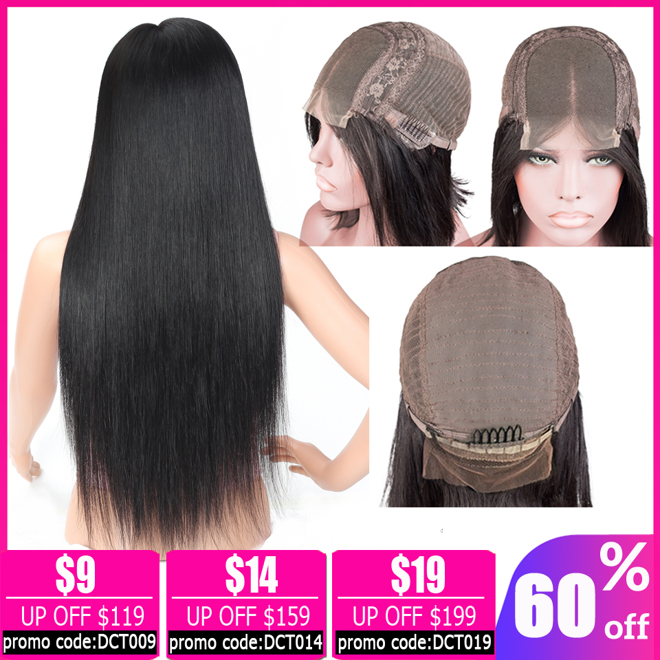 Straight Lace Front Wig 4×4 Lace Closure Wig Brazilian Lace Wig Human Hair Lace Closure Wigs For Women Non-remy 150% Density