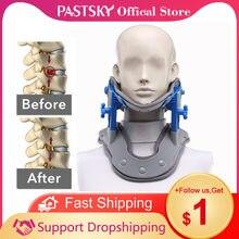 Collar elástico para cuello, terapia de compresión caliente, tracción Cervical, soporte para vértebras, columna vertebral, masaje cuidado de la salud, alivia el dolor
