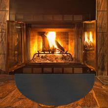 Fire Retardant Half Round Fireplace Carpet Non-slip Mat Safety Cover for Kitchen Fireplace