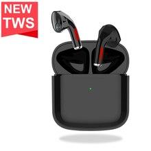 TWS אלחוטי אוזניות לזהות חיישן Bluetooth 5.0 אוזניות מגע בקרת 9D צליל סטריאו מיני ספורט אוזניות לטלפון חכם