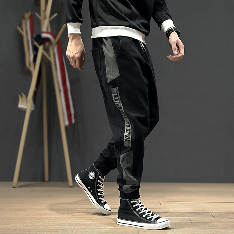 2020 New Pants Side Stripe Harem Trousers Streetwear Hip Hop Pants Men Fashion Joggers Men Loose Fit Casual Leisure Cargo