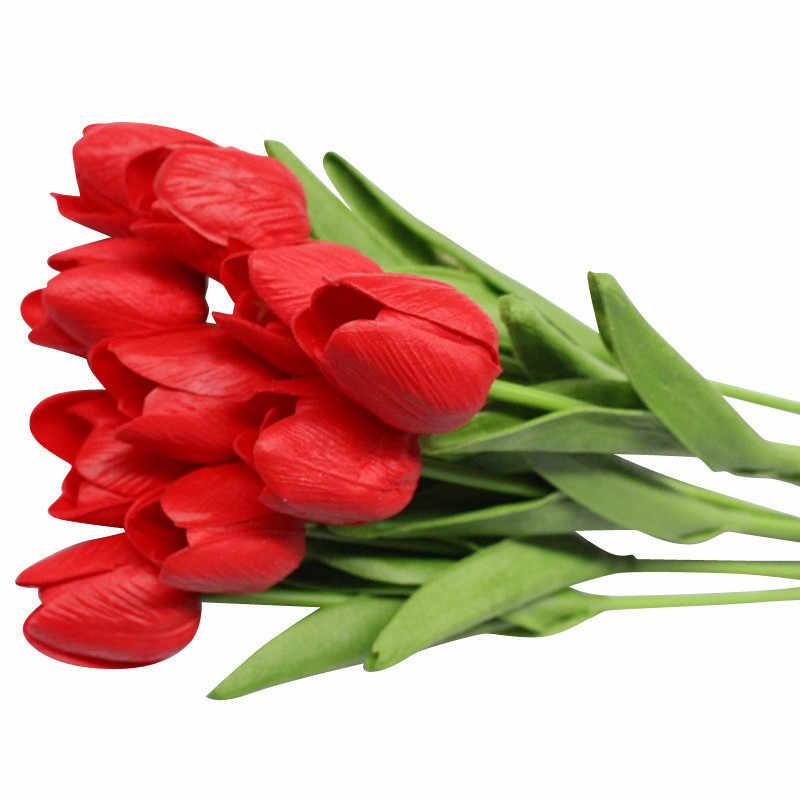 1Pcs Tulip Kunstbloemen Real Touch Kunstmatige Boeket Bloemen voor Thuis Gift Bruiloft Decoratieve Bloemen Kunstmatige Bloemen