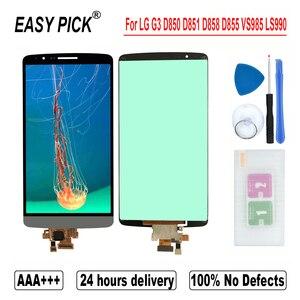 Image 2 - עבור G3 כפולה D858 D858HK D856 LCD תצוגת מסך מגע Digitizer עצרת כלים חינם עבור LG G3 D850 D851 D852 d855 VS985 LS990