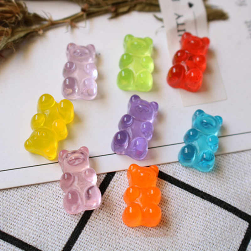 10Pcs Simulated Bear Candy Polymer Slime Filler Box Toy For Children Charms Modeling Clay DIY Kit Accessories Kids Plasticin