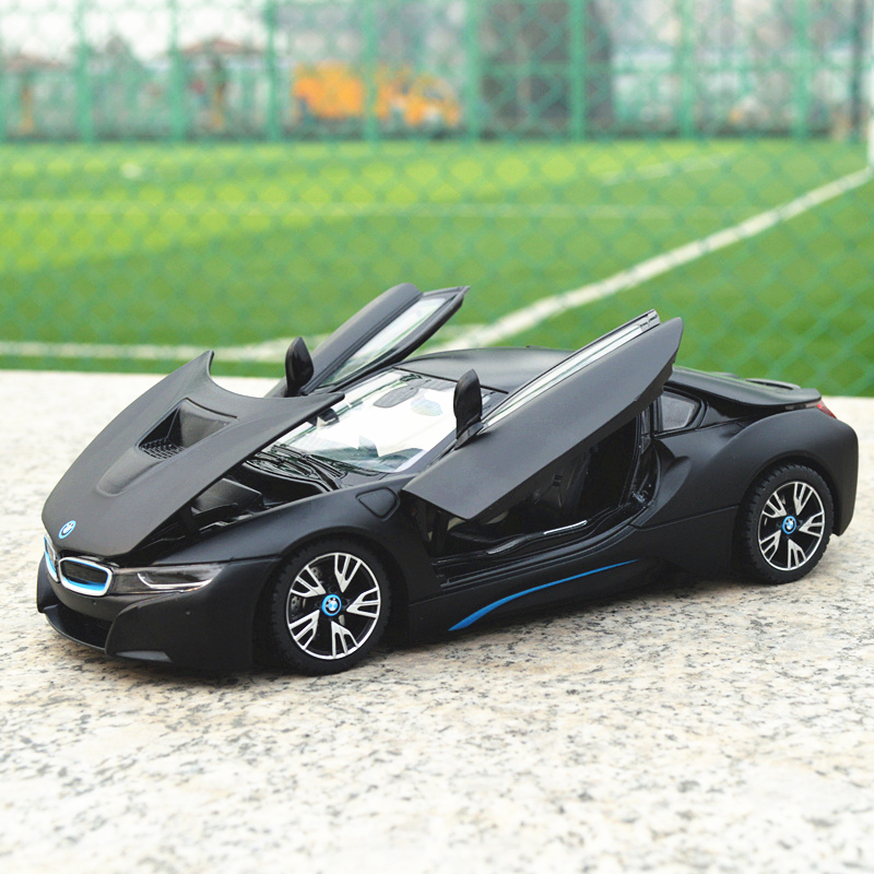 RASTAR 1:24 BMW I8 alloy car model Diecasts & Toy Vehicles Collect gifts Non-remote control type transport toy