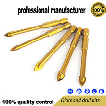 цена на carbide head drill bit for glasses hole making hex shaft for drill tools use home decoration toolsparts drill bits