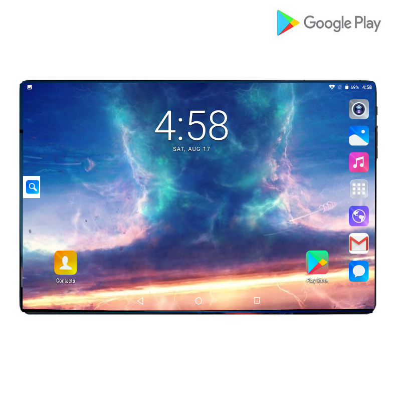 Google Android Tablets 10.1 Inch 1280*800 IPS Glass Large Screen 8.0MP Rear Camera Wifi 4G LTE Tablets Support Russian Keyboard