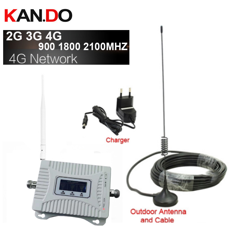 Home Use 2G 3G 4G Booster 900 1800 2100mhz Phone Booster Tri Band Mobile Signal Amplifier LTE Cellular Repeater GSM DCS WCDMA