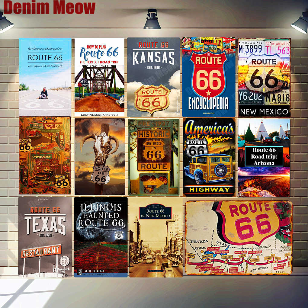 new mexico route 66 vintage metal tin signs the mother load poster pub bar club decor kansas wall art stickers home decor mn113