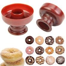 5pcs/lot DIY Plastic Cute Donut Mold Doughnut Desserts Cutter Maker Useful  Home Kitchen Bakery Donuts DIY Model Biscuits Mold