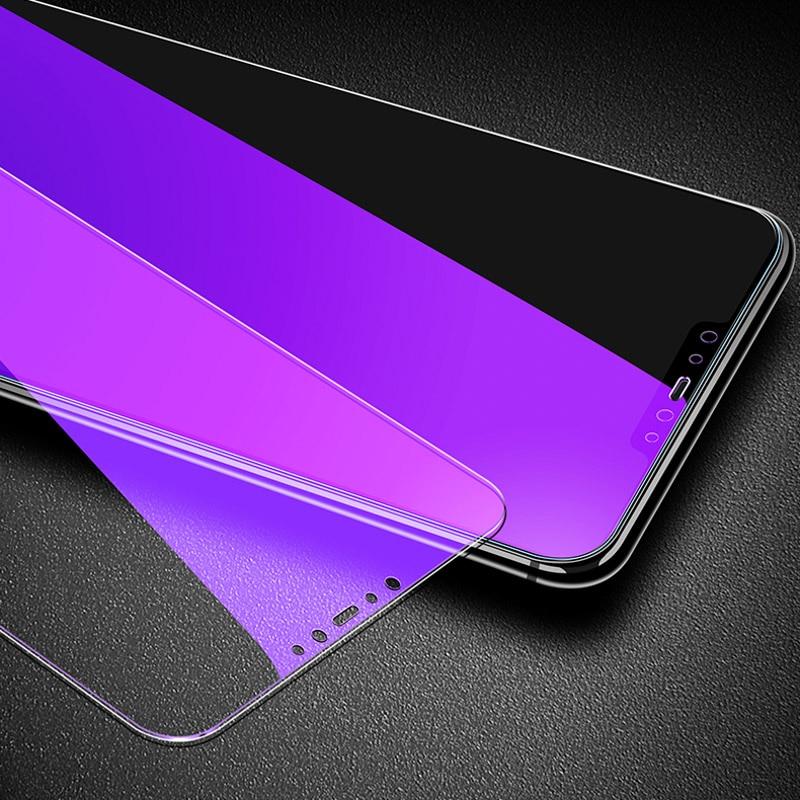 2PCS Anti Blue Purple Light Tempered Glass For Xiaomi Mi 9 8 SE A2 Lite 9T Redmi K20 6 Pro S2 Screen Protector Protective Glass