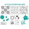 2021 neue Anlage Bold Blumen Briefmarken Metall Schneiden Stirbt und Kunststoff Schablone Sets Für DIY Handwerk, Der Gruß Karte Scrapbooking