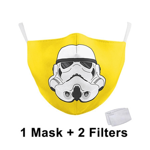 Classic Movie Star War Cosplay Print Face Mask Adult Kid Washable Masks Fabric Reusable PM2.5 Filters Dust Proof 2