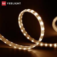 YEELIGHT 5m LED inteligentna żarówka taśma regulacja temperatury barwowej wysuwana opaska świetlna Yeelight App pilot Wifi Control w Taśmy i listwy LED od Lampy i oświetlenie na