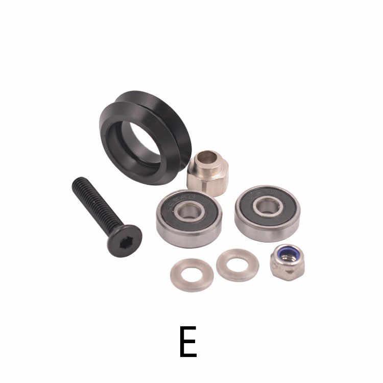 Polea De Impresora 3d V 625ZZ enviar rueda móvil openbuilds 2020 perfil de aluminio polea diámetro exterior 23,89mm