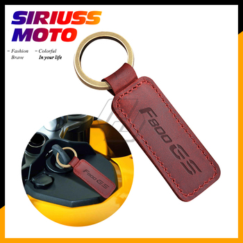 Motorcycle Keychain Cowhide Key Ring Case for BMW Motorrad F800GS F800 GS image