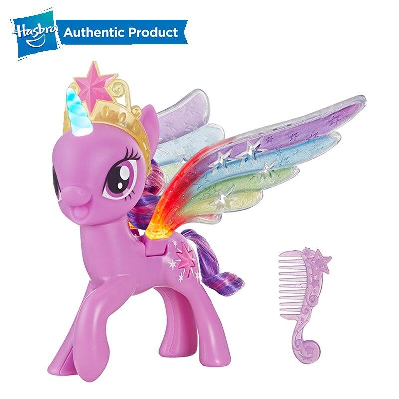 Hasbro My Little Pony Rainbow Wings Twilight Sparkle Pony Gambar Dengan Lampu Dan Bergerak Sayap Atas Hadiah Ulang Tahun Untuk Anak Anak Aksi Toy Angka Aliexpress