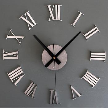 DIY luksusowe 3D zegar ścienny duży rozmiar Home Decoration zegar artystyczny złoty #321 tanie i dobre opinie CN (pochodzenie) Nowoczesne wall clocks circular Akrylowe 50cmcm Jedna twarz 24mmmm 0 2gg QUARTZ Płyta 9 mm abstrakcyjne