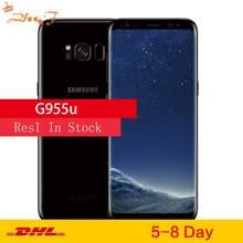 Оригинальный Android телефон Samsung Galaxy S8+, S8 Plus G955U, разблокированный LTE, восьмиядерный Snapdragon 835, 6,2 дюйма, 12 Мп, 4 Гб ОЗУ, 64 Гб ПЗУ, NFC