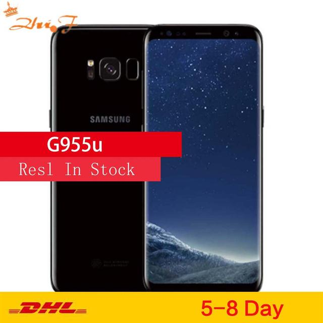 "Samsung Galaxy S8+ S8 Plus G955U Original Unlocked LTE Android Cell Phone Octa Core 6.2"" 12MP RAM 4G ROM 64G Snapdragon 835 NFC