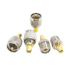 Conector rf adaptador UHF-SMA sma hembra macho um macho uhf pl259 so239, 2 uds.