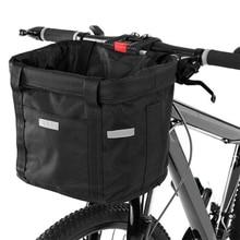 Bicycle Front Basket Basket Front Bag Rear Removable Waterproof Bike Handlebar Basket Pet Carrier Bag Cycling Accessories sunlite steel racktop rear basket black